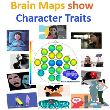Kaiser Neuromap brain maps show character traits for neurofeedback
