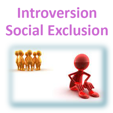 Introversion can lead to social exclusion and negative episodes in schizophrenia