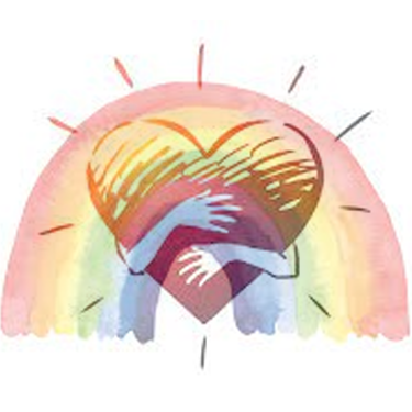 Rainbow and Heart of Compassion illustrating the need to unify heart and vision to provide and energising and intimate experience. - Science of Compassion, Dominic Vachon