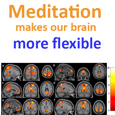Meditation makes our brain more flexible as does neurofeedback